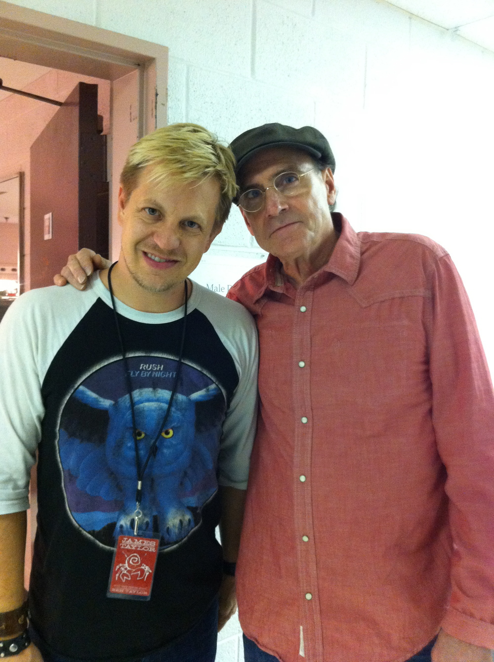 w/ James Taylor after James & Ben Taylor show in Virginia 2011