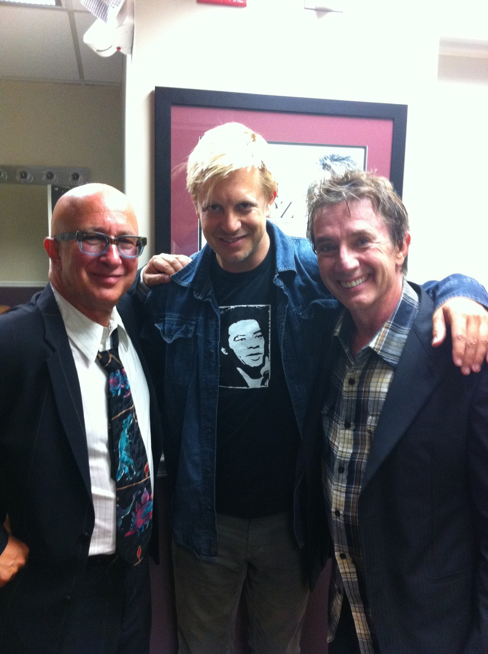 w/ Paul Shaffer & Martin Short after concert