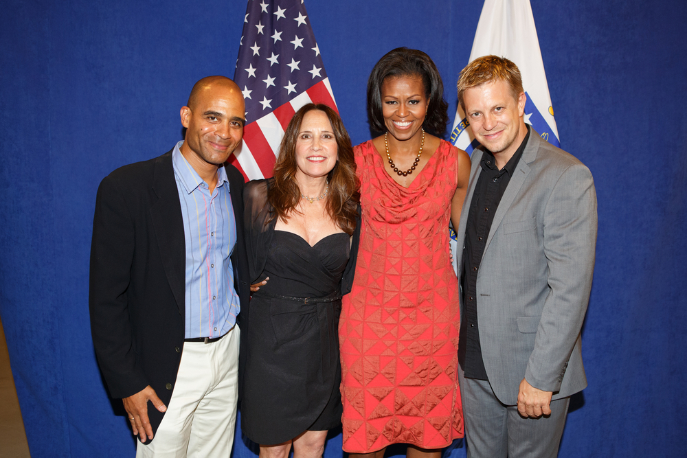 w/ Owen Young, Kate Markowitz, First Lady Michelle Obama; Lenox, Mass 2012