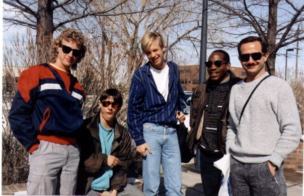 "University of Miami's award winning ""Bop Brothers"" w/ Pete Brewer, Steve Smyth, Al Young & Leo Huppert. Boulder, CO 1992"