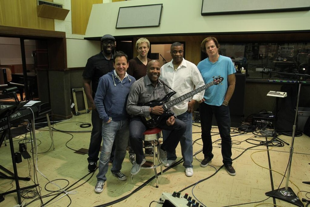 making Nathan East's solo debut @ Ocean Way, 2013 w/ Tim Carmon, Chris Gero, Nathan, Ricky Lawson, Michael Thompson