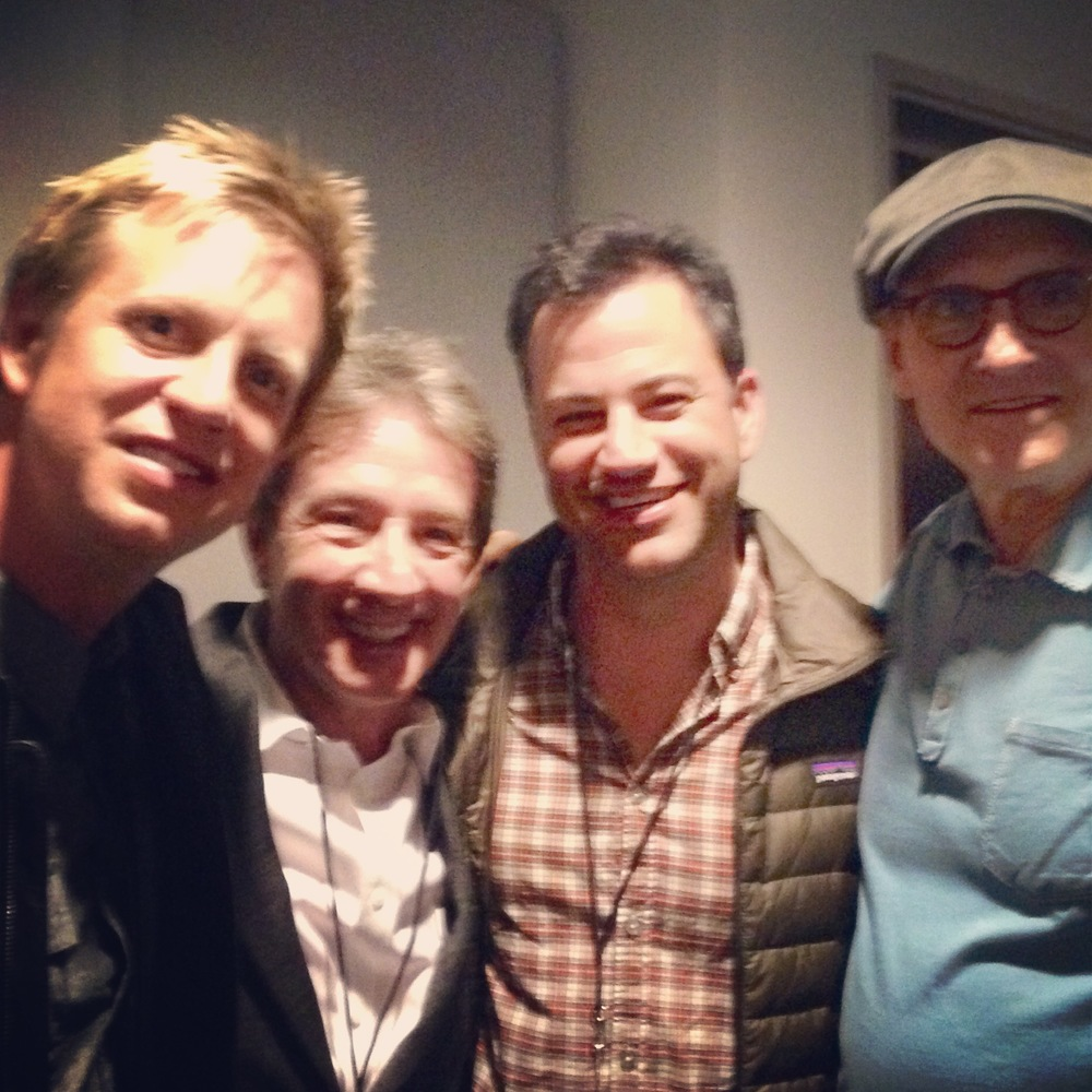 w/ my 3 bosses Martin Short, Jimmy Kimmel & James Taylor @ JT Hollywood Bowl show May 2014