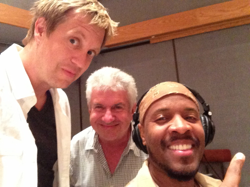 w/ keyboard masters Tom Ranier & Michael Bearden, Capitol Records Emmy pre record day, 2014