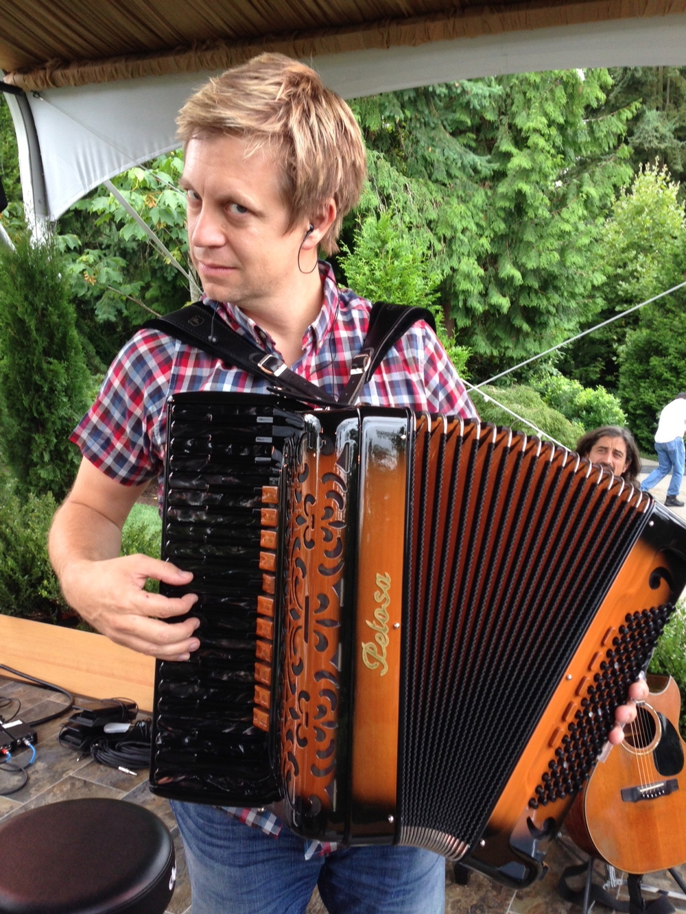 rrockin' some accordion, a beauty from Petosa in Seattle @ Bill Gates' house