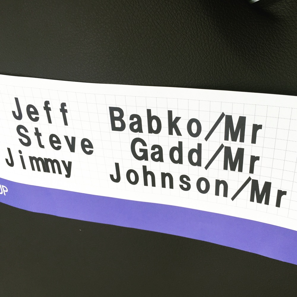 ah, but first billing here!  dream trio.  Babko/Gadd/Johnson (as if)- James Taylor trip to Japan for Seiji Ozawa's 80th.
