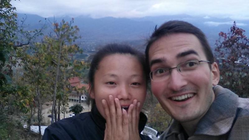 Mit Joanna beim Aussichtspunkt-Tempel