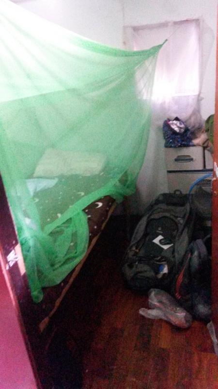 mein 4 m² Zimmer im Bodhi Tree House, in dem ich einige Tage wohnte (für 4€/Nacht)