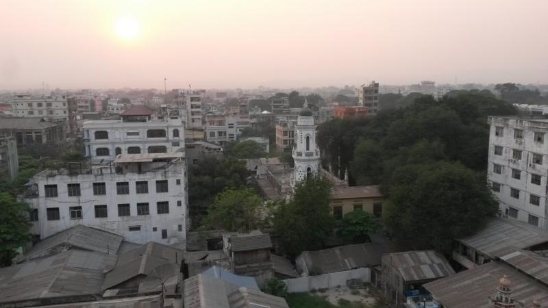 Ausblick vom Hoteldachzimmer