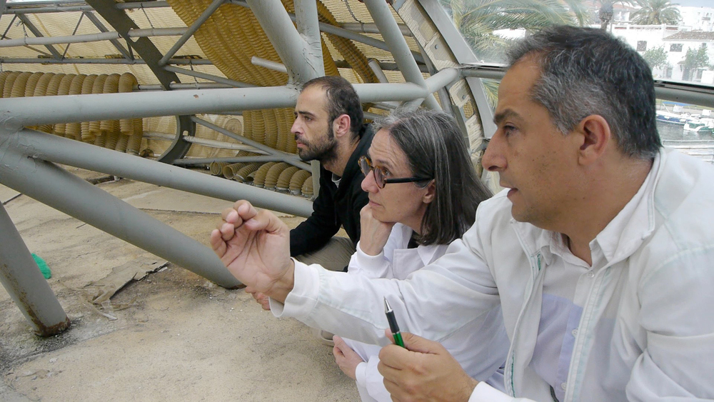 Vicky Colombet with the architect Enric Ruiz-Geli and Victor Llanos