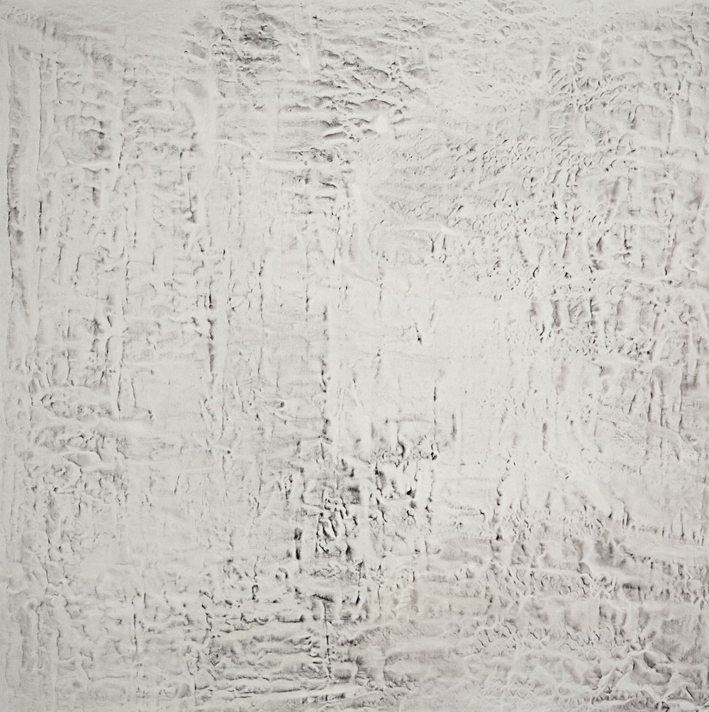 #1153-2005  Oil, alkyd, wax on canvas Dimension: 74 x 74 inches