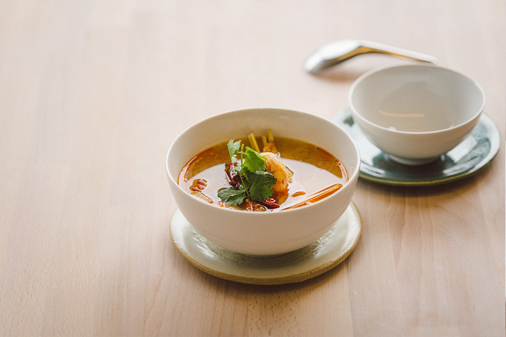 TOM YUM GOONG - Thai Hot and Sour soup with Prawns