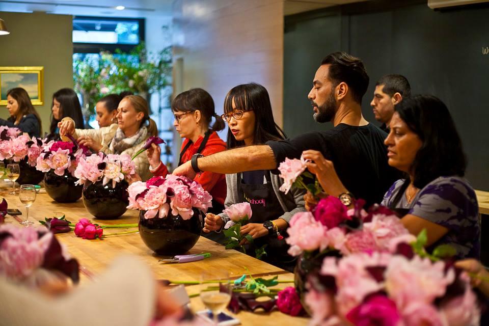 Flowerschool New York Beginners Open Studio Featuring Peonies