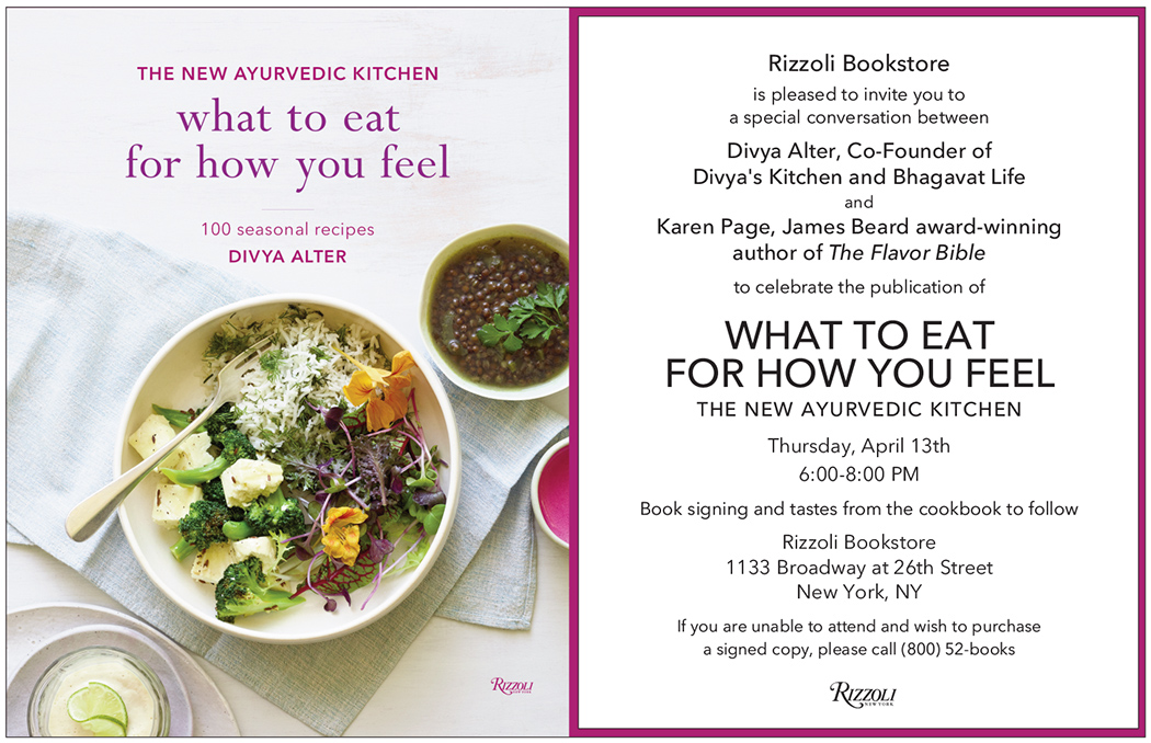 Rizzoli Bookstore: What to eat for how you feel Book signing — ALIX