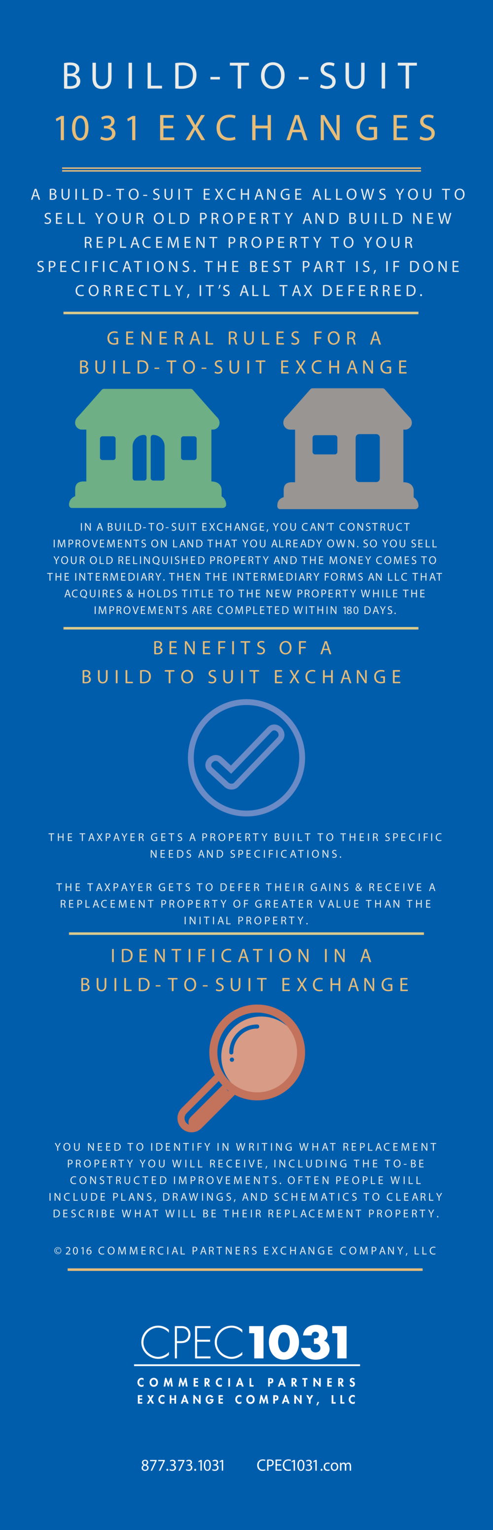 build to suit 1031 exchange infographic