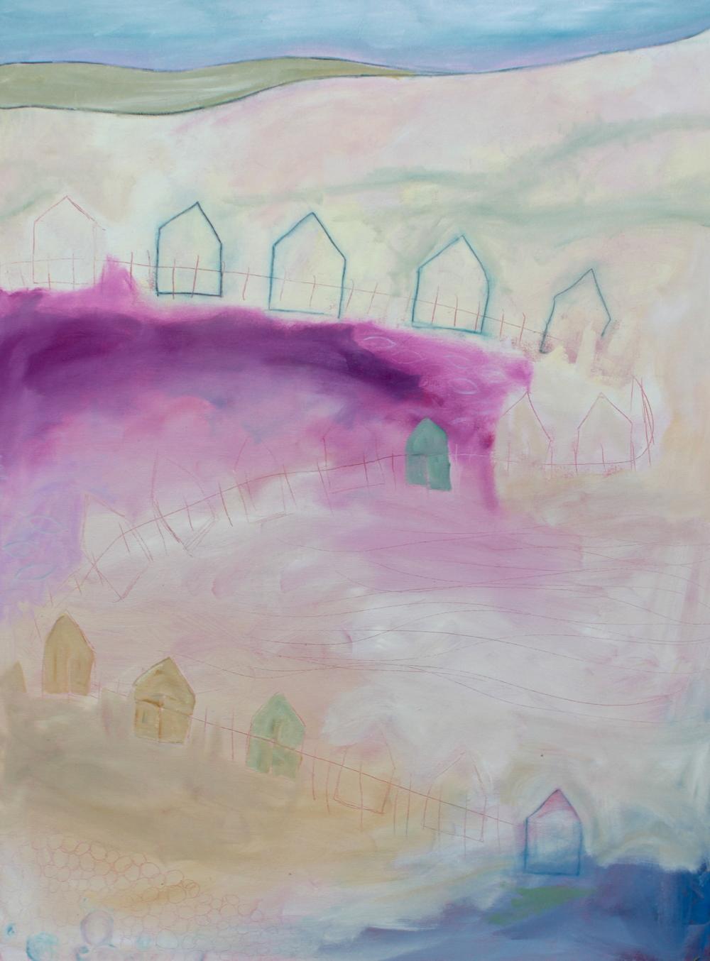 "NEIGHBORHOOD 48 x 36"" oil on canvas"