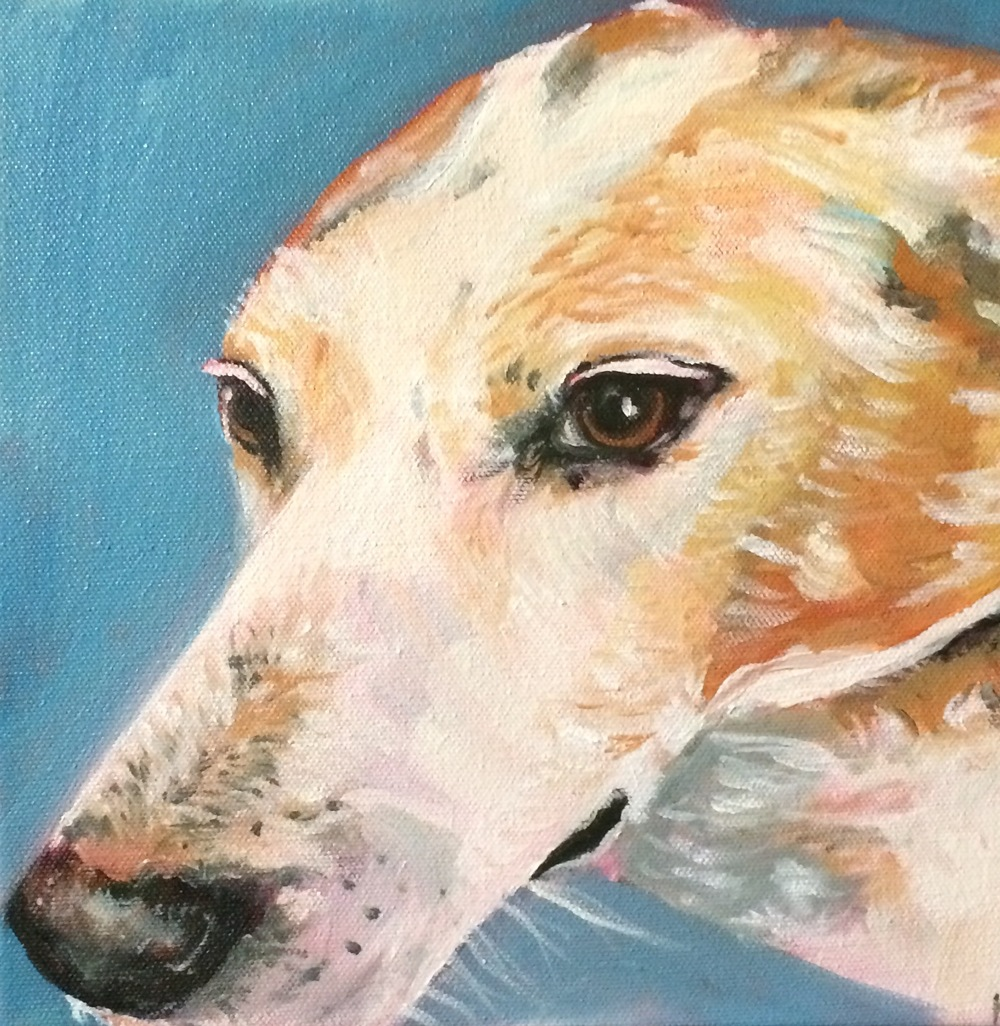 """Buckner"" oil on canvas 10x 10"""