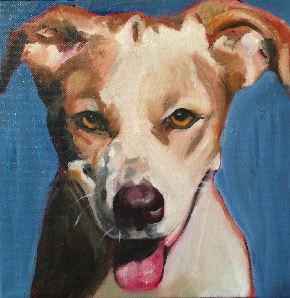 """Mookie"" oil on canvas 10 x 10"""