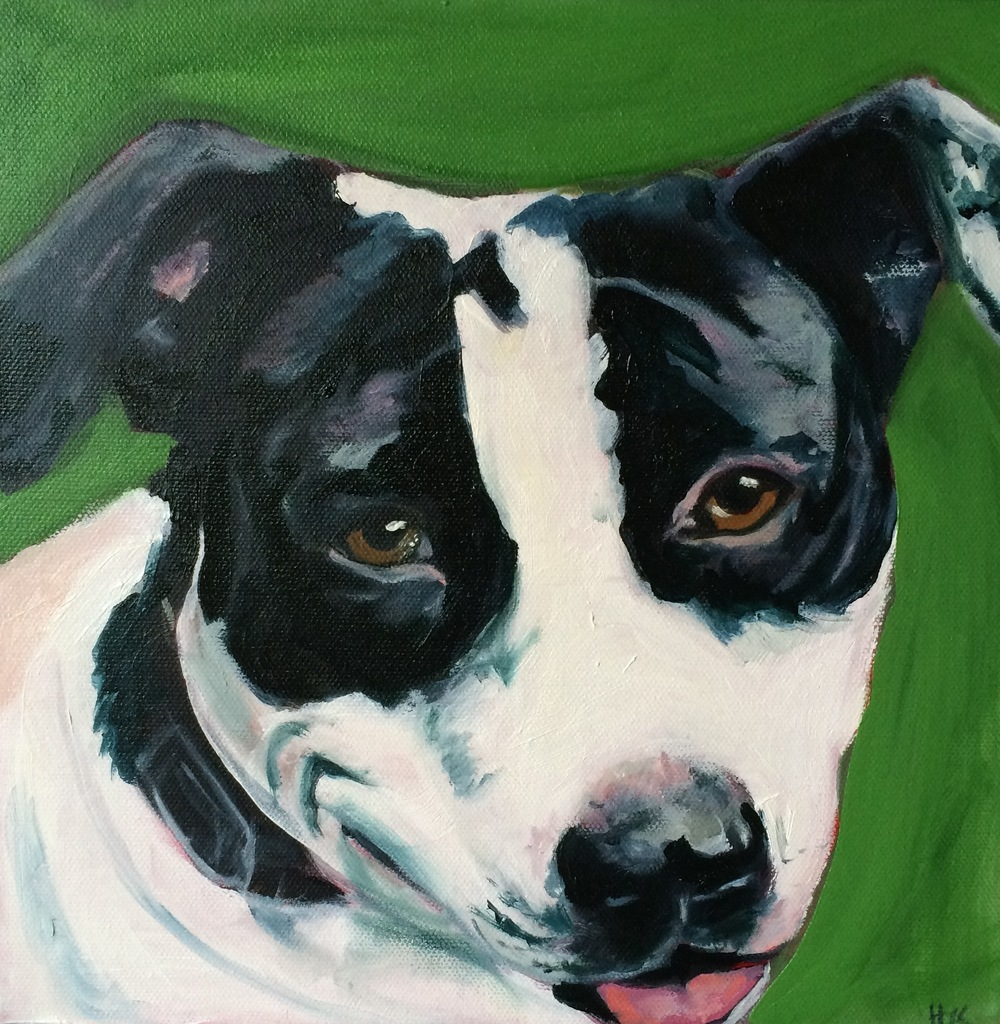"""""""Pippa"""" 10 x 10"""" oil on canvas"""