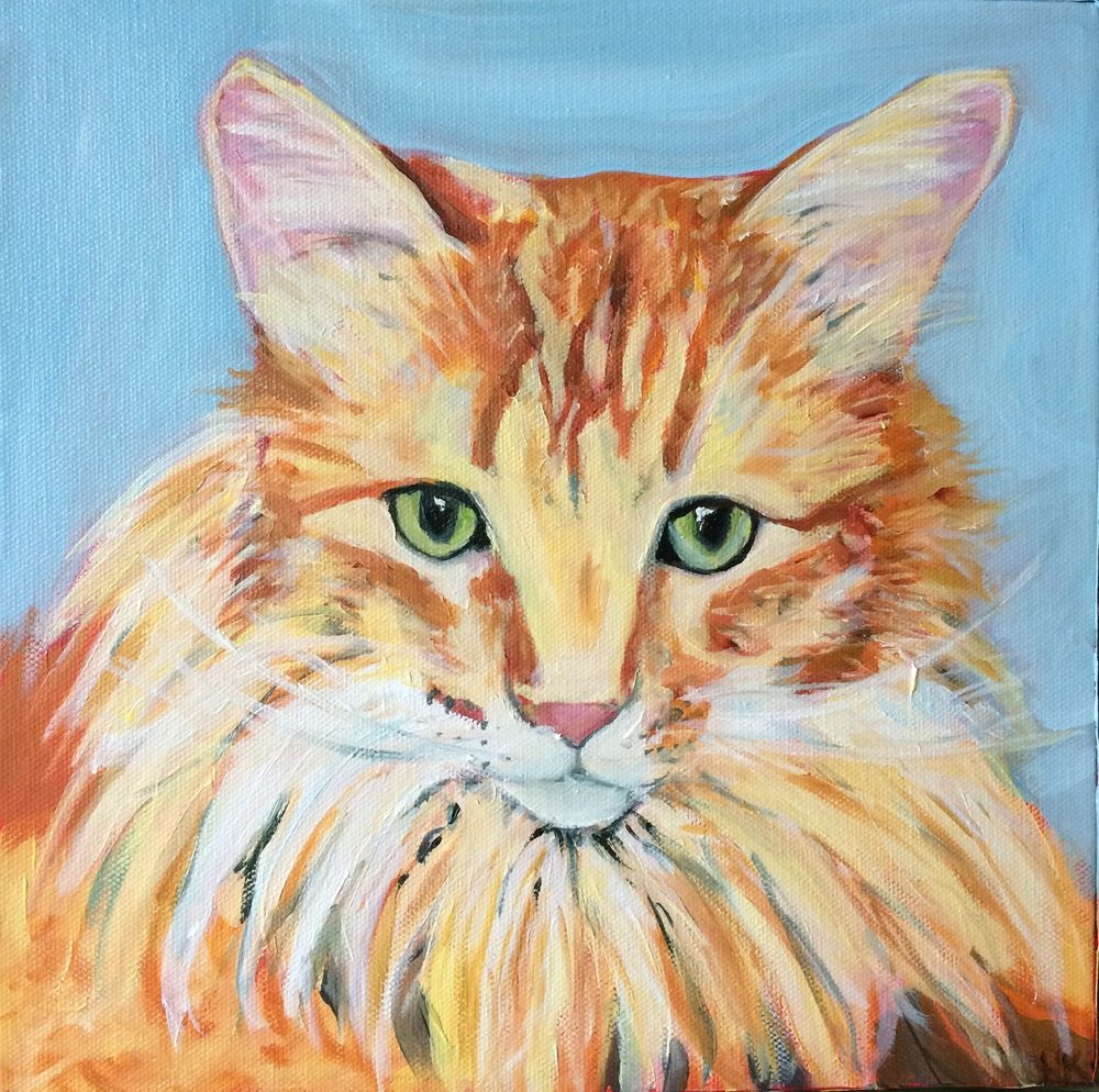 """Leo"" oil on canvas 10 x 10"""