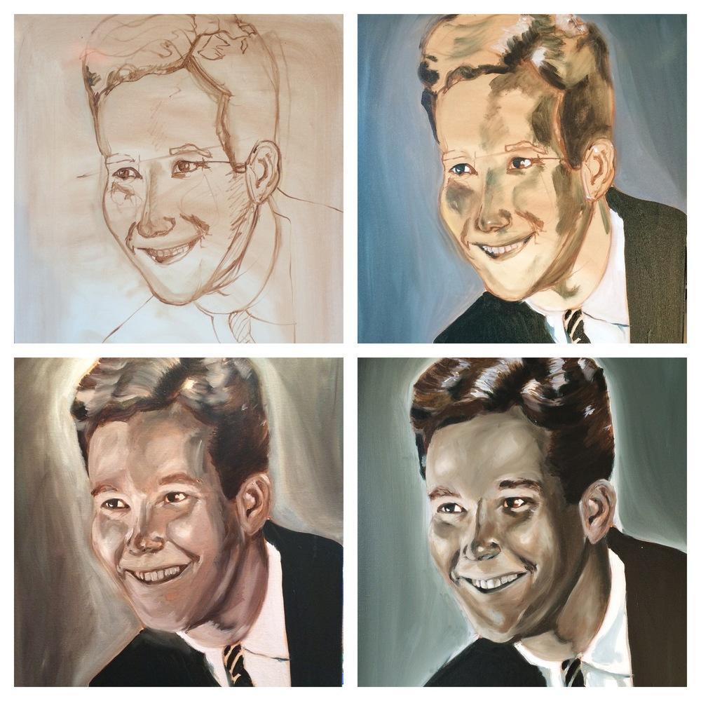 "Oil on canvas 18x24"""