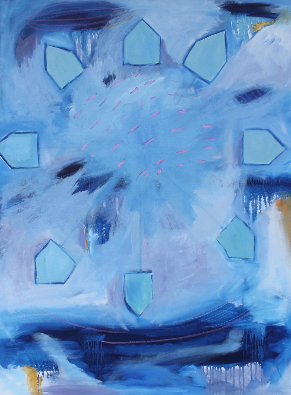 """WHEELHOUSE 30 x 40"""" oil on canvas"""