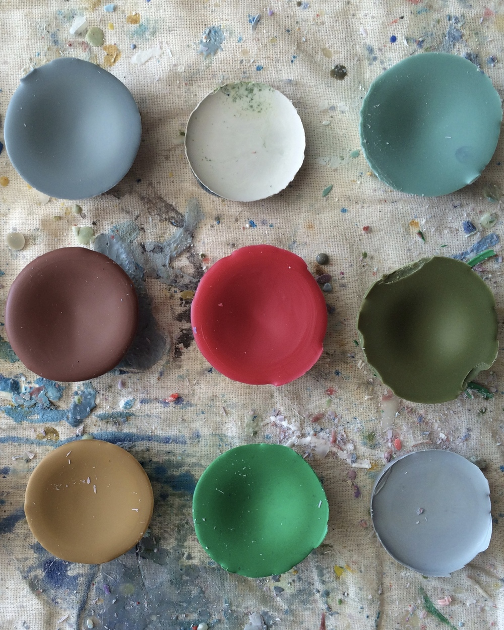 Fun shades of encaustic pigments