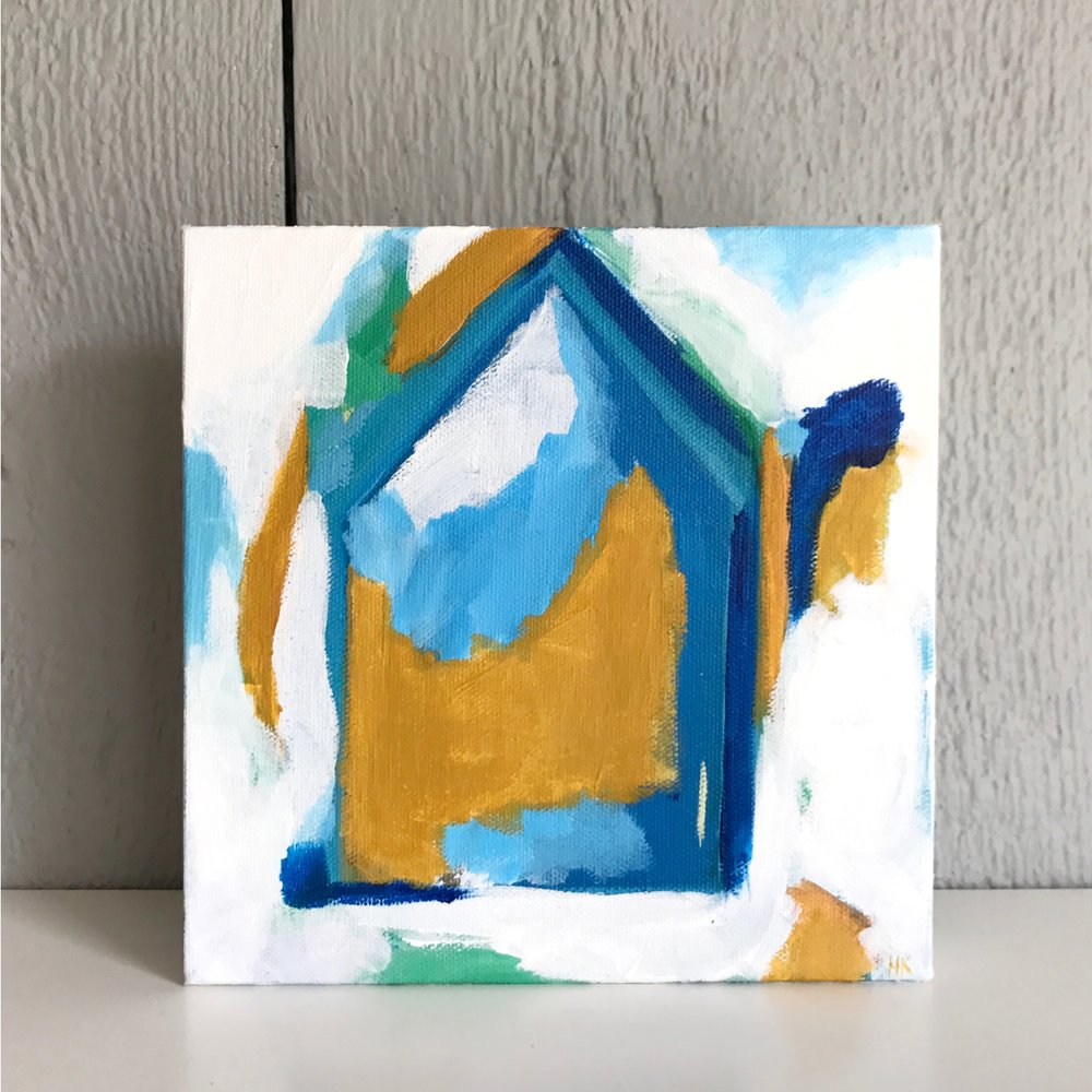 "CLUB HOUSE 8x8"" acryllic on canvas"