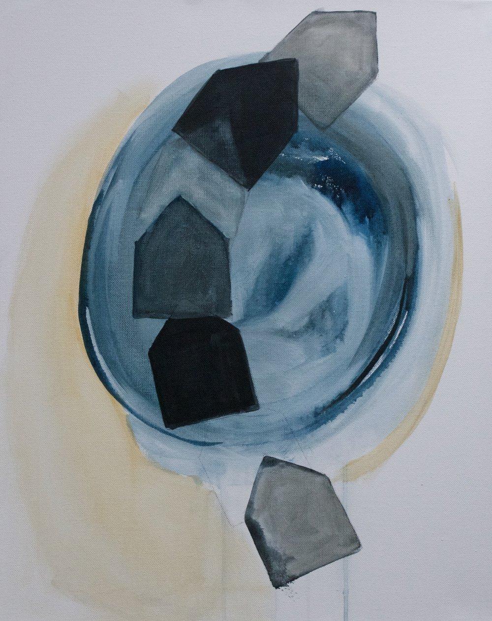 "ORBIT 16 x 20"" acrylic on canvas SOLD"