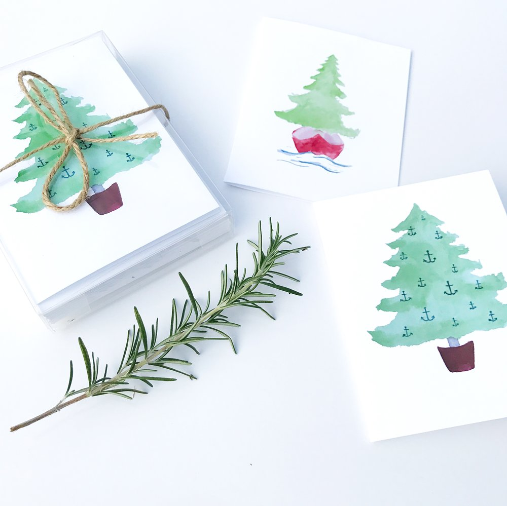 nautical holiday cards -