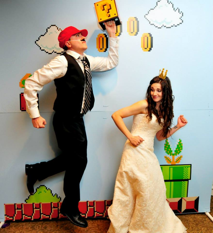 Our Super Mario Themed wedding! Our first big project. :)