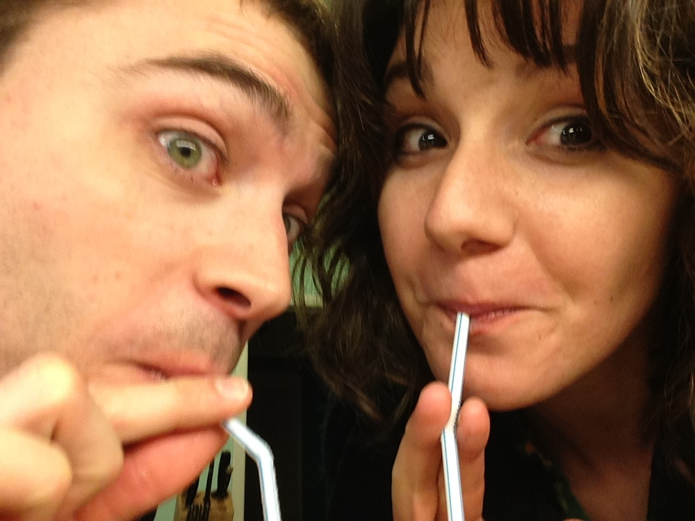 Couple of soda jerks right here, folks! Ladies...Straw Face is almost as good as Duck Face. FACT.