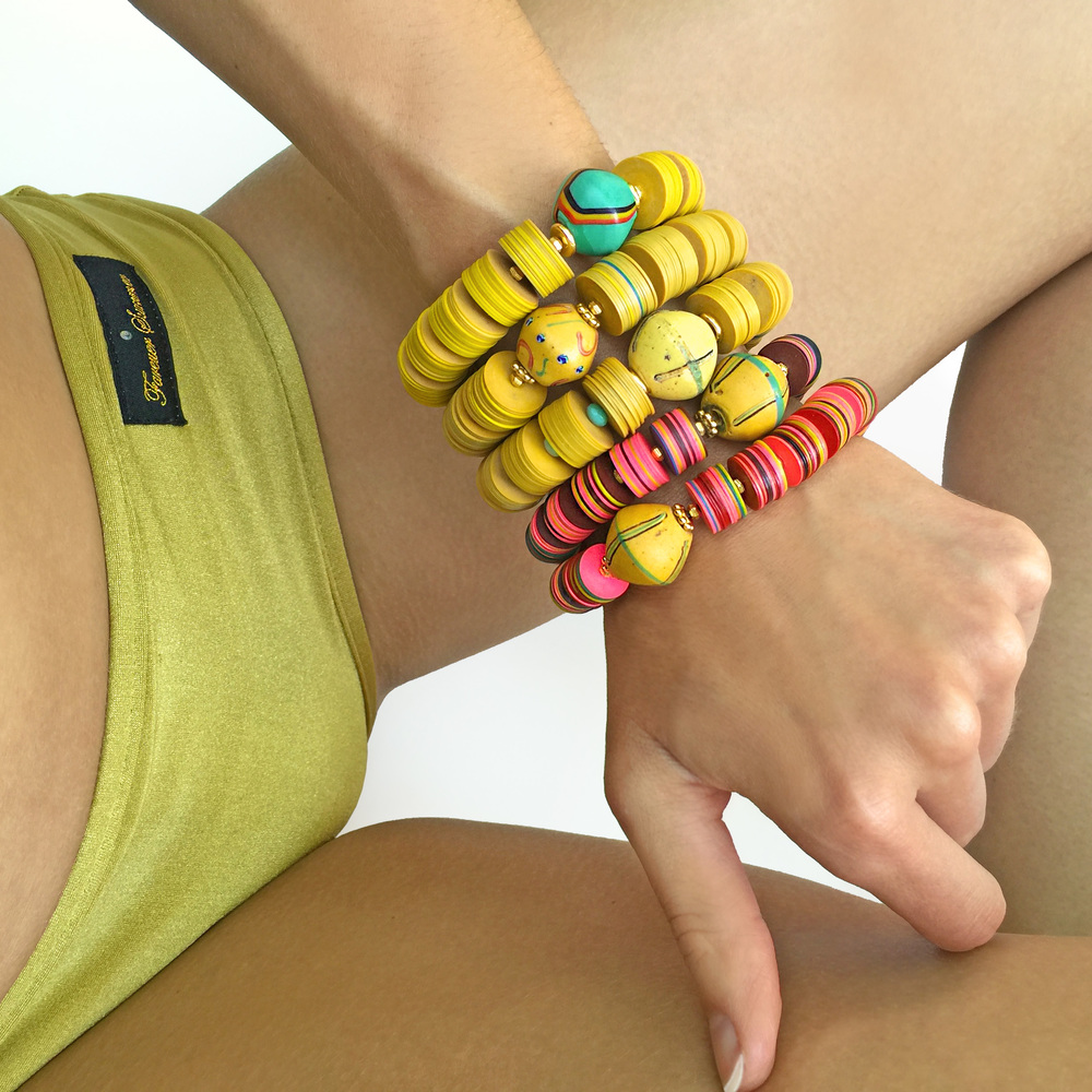 Jessy Made Vinyl Stacked Bracelets