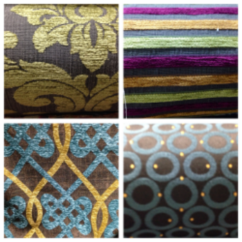 Pictured fabrics are from the Zarin Fabrics store on Manhattan's Lower East Side (  www.zarinfabrics.com  )