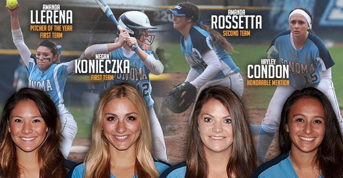 COURTESY // SSU Athletics Four Seawolf softball players were honored in the CCAA Awards