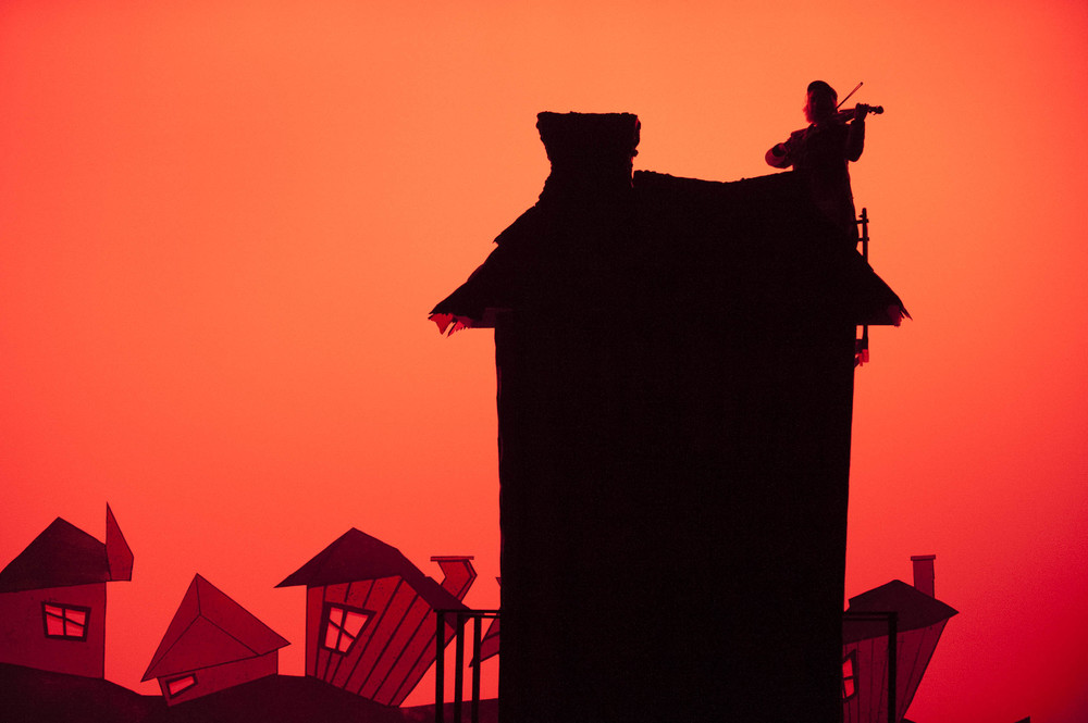 STAR // Connor Gibson Fiddler on the Roof by the Theatre Arts & Dance department was a big hit.