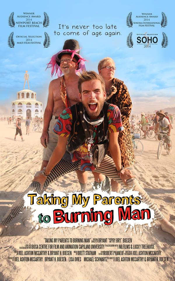 facebook.com    Director Bryant Boesen is joined by his parents on a trip to the Burning Man Festival.