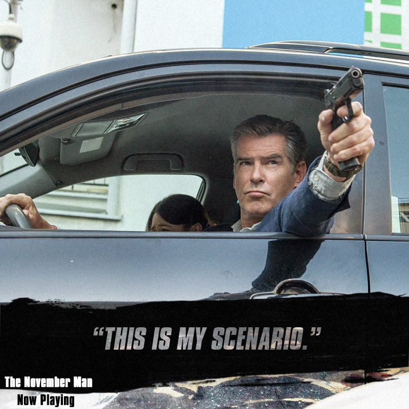 "facebook.com   Pierce Brosnan stars as CIA agent Peter Devereaux in ""November Man."""