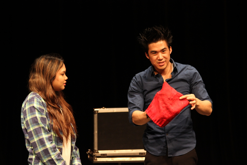 STAR // Evan Croker Magician Norman Ng asked audience members to participate in his tricks throughout the show.