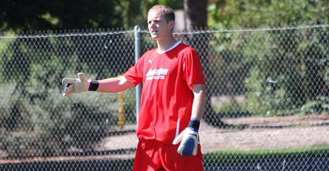 COURTESY // SSU Athletics   Goalie Sean Taufer had five saves on Thursday's game against Simon Fraser.