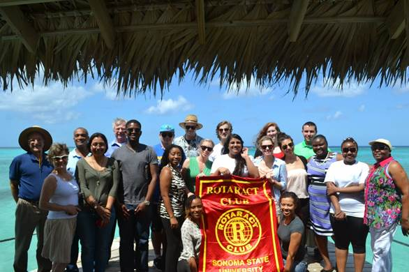 "COURTESY // Patrick Maloney   Students engaged in ""social entrepreneurship"" in the Bahamas, a country that once thrived as a popular tourist destination."