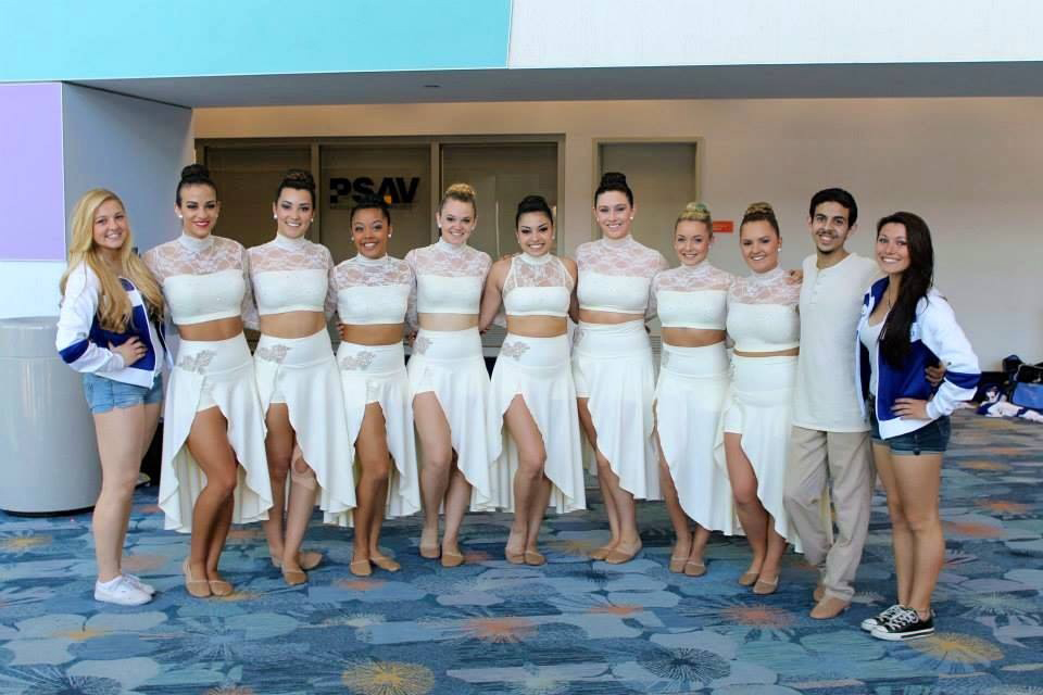 "COURTESY // Carissa Pinnix The Sapphires traveled to Anaheim to compete at Nationals. They performed their routine to Coldplay's song ""Fix You"". A video of the routine can be found on their YouTube channel."