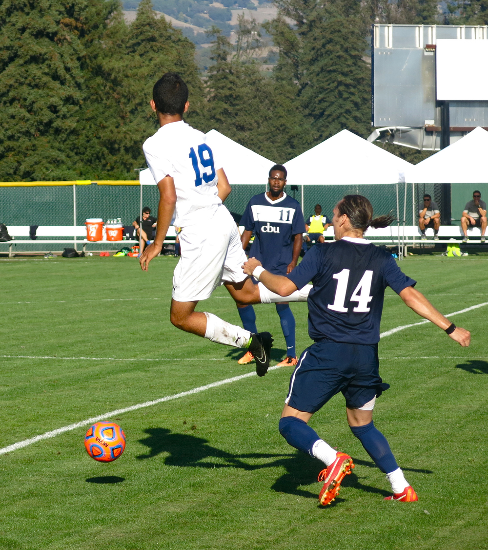 STAR // Maud Busson Freshman Armando Coronel gains possession of the ball.