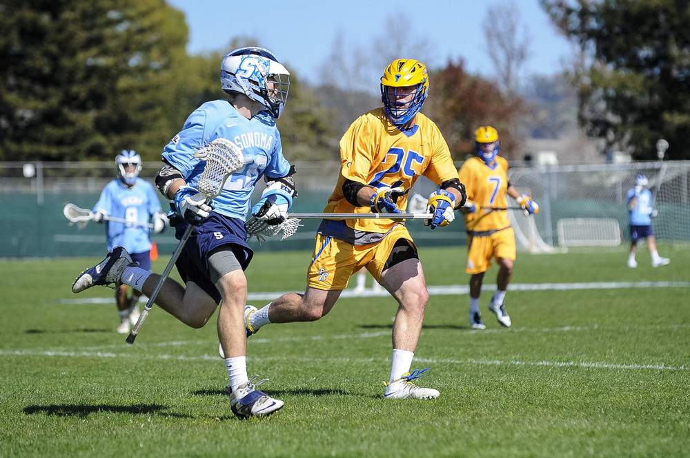 STAR // Connor Gibson Men's Lacrosse, ranked ninth in conference, faced off with sixth-ranked UC Santa Barbara Saturday. The Seawolves played hard but lost to the Gauchos in overtime 9-8. The Seawolves take on Santa Clara University in Santa Clara on Saturday at 1 p.m. Courtesy: SSULacrosse.com
