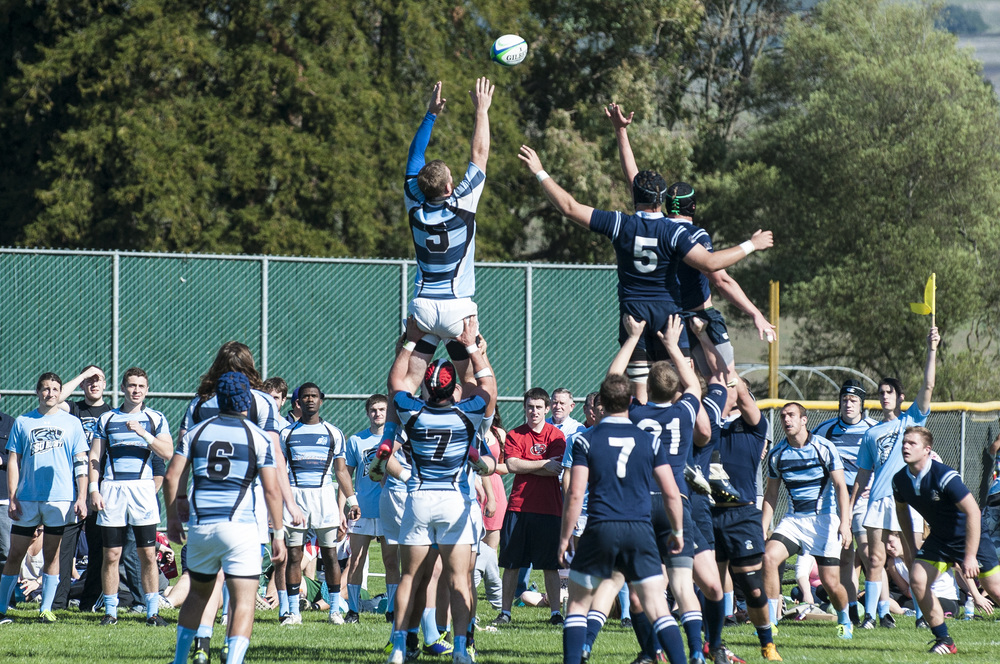 STAR // Connor Gibson Sonoma's Rugby team took on Cal State Maritime on Saturday to bring home a big win 41-21.