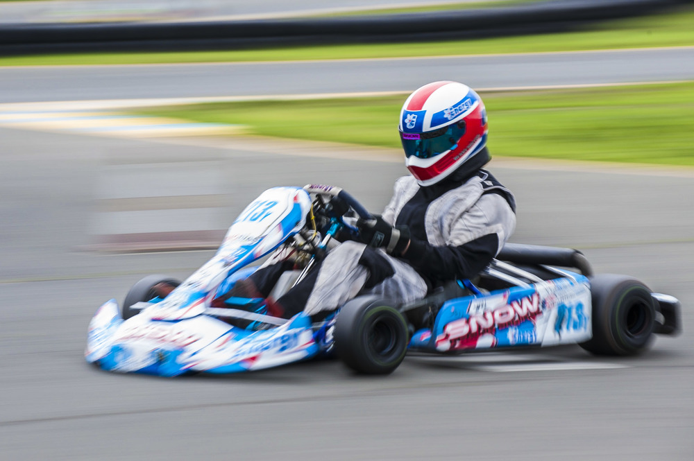 STAR // Connor Gibson   In some heart pounding high speed go-kart racing at the Sonoma Raceway, drivers reached up to 70 miles per hour in small go-karts.