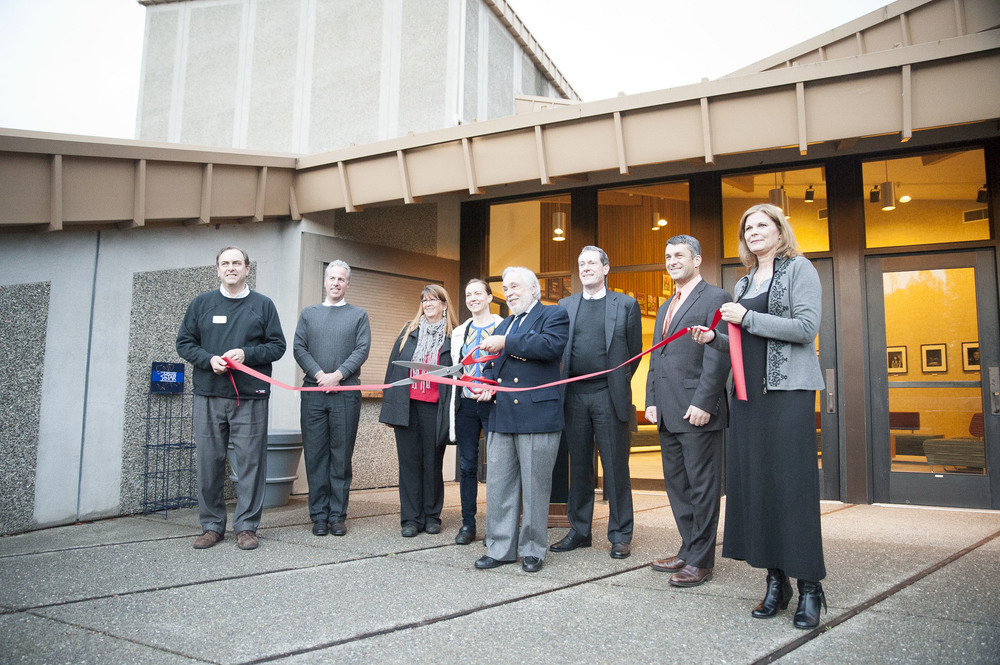 STAR // Connor Gibson President Ruben Armiñana performed the ribbon cutting ceremony at the grand reopening on Thursday.