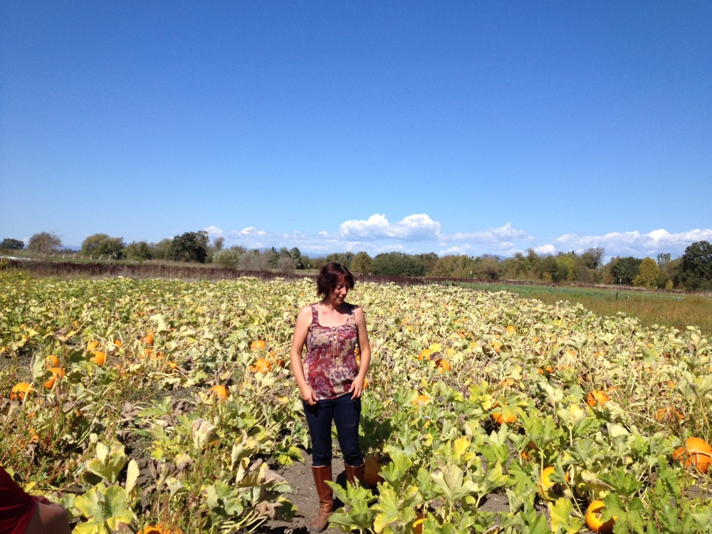 STAR // Jonathan Angulo Jennifer Branham, part owner of Laguna Farms, poses in the pumpkin patch that is almost ready for fall season.