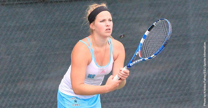 COURTESY // SSU Athletics Kaitlyn Haithcock defeated her first and second round opponents.