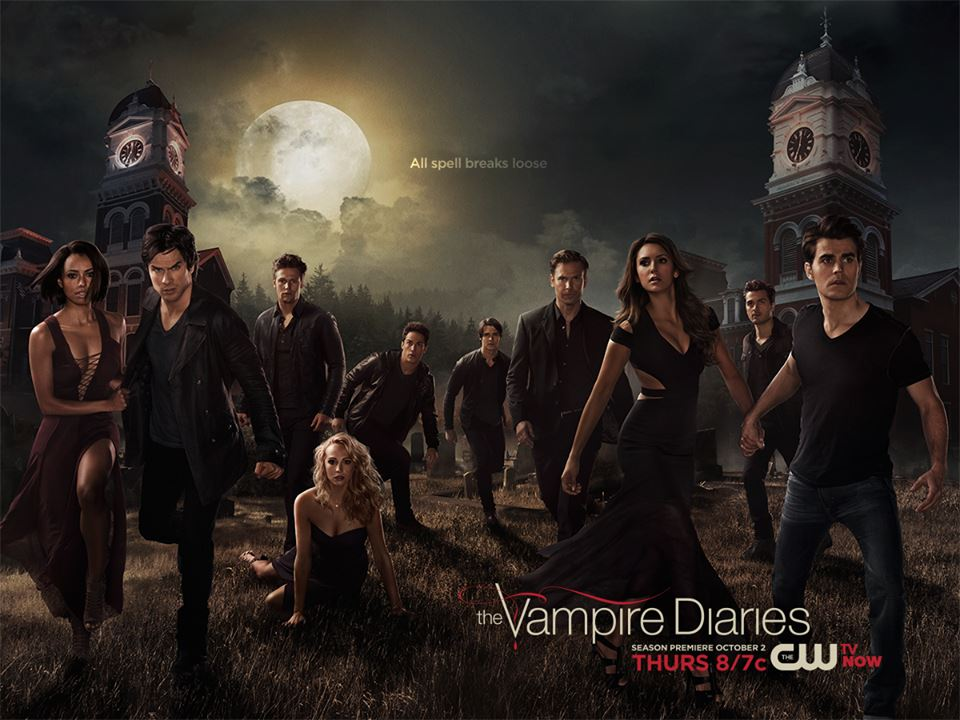 "facebook.com The cast of The CW's ""Vampire Diaries"" is back for season six of the drama."