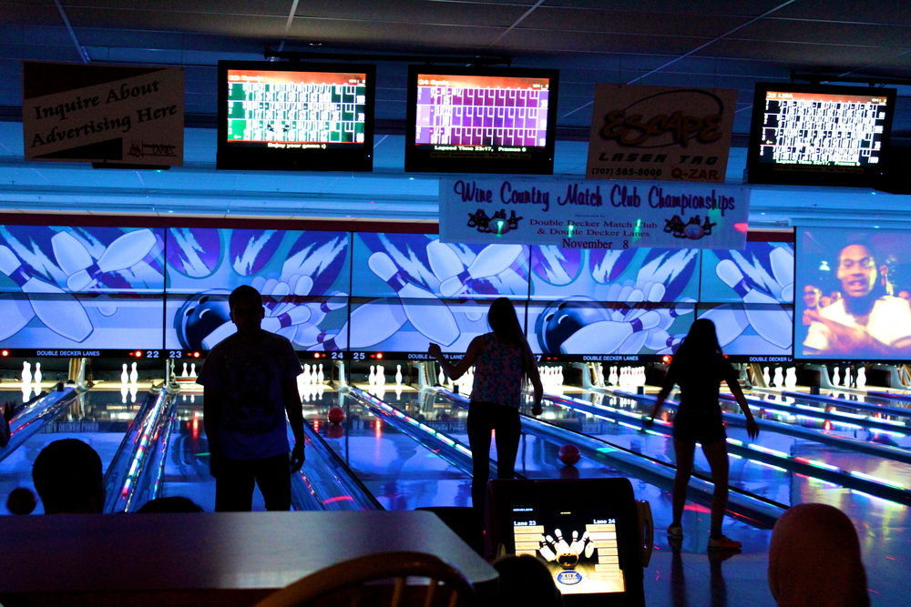 STAR // Sara Wildman   Sonoma State University students attended Bowling for Boobs at Double Decker Lanes in honor of Breast Cancer Awareness month and for a free night of bowling.